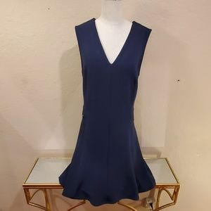 Halogen Navy Fit-and-Flare Dress
